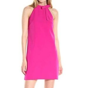 Maggy London Size 8 Pink Bow Shift Dress NWT